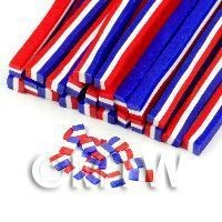 Handmade French Flag Cane - Nail Art (11NC67