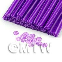 1/12th scale 1 Mauve Snowflake Cane  - Nail Art (11NC02)