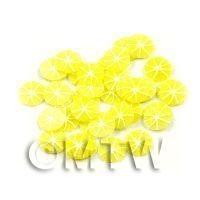 50 Handmade Skinless Lemon Cane Slices  - Nail Art (11NS48)