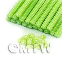 1/12th scale Handmade Skinless Lime Cane - Nail Art (11NC64)