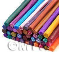 1/12th scale 40 Mixed Colour And Style Flower Canes - Nail Art (11NCST8)
