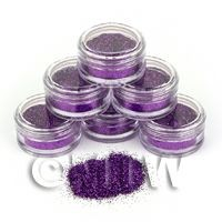 High Quality Nail Art Glitter - 2g Pot - Purple Rain