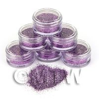 1/12th scale High Quality Nail Art Glitter - 2g Pot - Lovely Lilac