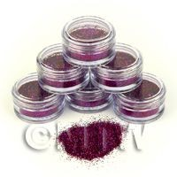 1/12th scale High Quality Nail Art Glitter - 2g Pot - Magnetic Magenta