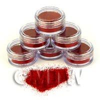 1/12th scale High Quality Nail Art Glitter - 2g Pot - Sunburst Red