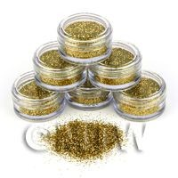 1/12th scale High Quality Nail Art Glitter - 2g Pot - Fools Gold