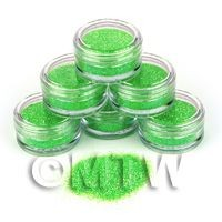 1/12th scale High Quality Nail Art Glitter - 2g Pot - Luscious Lime