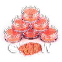 High Quality Nail Art Glitter - 2g Pot - Tangerine Terror