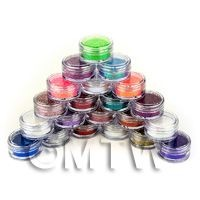 High Quality Nail Art Glitter - 21 x 2g Mixed Pot Set 1