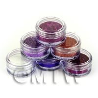 1/12th scale High Quality Nail Art Glitter - 6 x 2g Mixed Pot Set 2