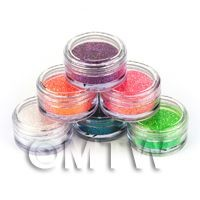 1/12th scale High Quality Nail Art Glitter - 6 x 2g Mixed Pot Set 3