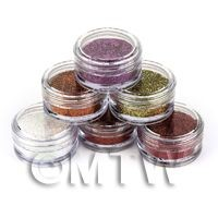 High Quality Nail Art Glitter - 6 x 2g Mixed Pot Set 4