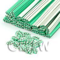 Handmade Pale Green Leaf Cane - Nail Art (DNC01)