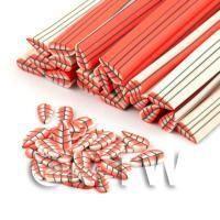 Handmade Long Red Leaf Cane - Nail Art (DNC02)