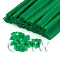 Handmade Green Leaf Cane - Nail Art (DNC03)