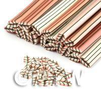 Handmade Pale Red Leaf Cane - Nail Art (DNC04)