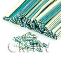 Handmade Pale Blue Leaf Cane - Nail Art (DNC05)