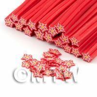 Handmade Red Flower Cane - Nail Art (DNC66)