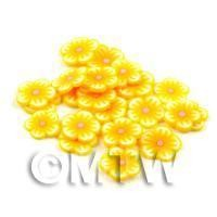 50 Yellow Flower Cane Slices - Nail Art (DNS67)