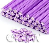 Handmade Violet Flower Cane - Nail Art (DNC69)