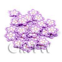 50 Violet Flower Cane Slices - Nail Art (DNS69)