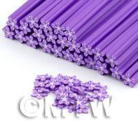 Handmade Violet Flower Cane - Nail Art (DNC70)