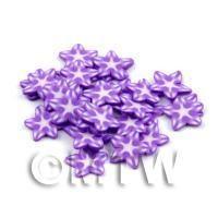 50 Violet Flower Cane Slices - Nail Art (DNS70)
