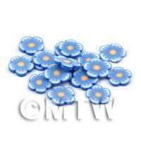 50 Blue Flower Cane Slices - Nail Art (DNS73)