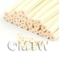 Handmade White and Pink Flower Cane - Nail Art (DNC75)