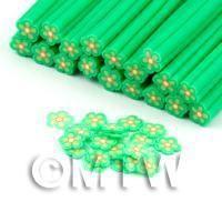 Handmade Green Flower Cane - Nail Art (DNC77)