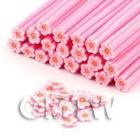 Handmade Pink Flower Cane - Nail Art (DNC80)