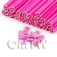 Handmade Dark Pink Flower Cane - Nail Art (DNC81)