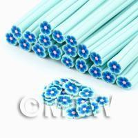 Handmade Light Blue Flower Cane - Nail Art (DNC82)