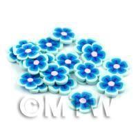 50 Blue Flower Cane Slices - Nail Art (DNS82)