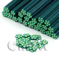 Handmade Green Flower Cane - Nail Art (DNC83)