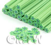 Handmade Green Flower Cane - Nail Art (DNC87)