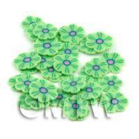 50 Green Flower Cane Slices - Nail Art (DNS87)