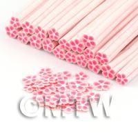 Handmade Pink Flower Cane - Nail Art (DNC88)