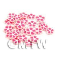 50 Pink Flower Cane Slices - Nail Art (DNS88)
