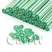Handmade Green Flower Cane - Nail Art (DNC89)