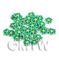 50 Green Flower Cane Slices - Nail Art (DNS89)