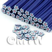 Handmade Blue Flower Cane - Nail Art (DNC90)