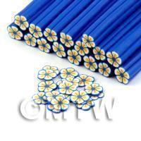 Handmade Blue Flower Cane - Nail Art (DNC91)