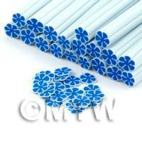 Handmade Blue Flower Cane - Nail Art (DNC92)