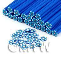 Handmade Blue Flower Cane - Nail Art (DNC93)