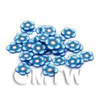 50 Blue Flower Cane Slices - Nail Art (DNS93)