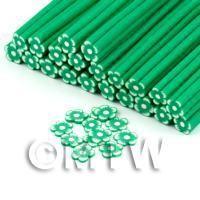 Handmade Green Flower Cane - Nail Art (DNC95)
