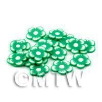 50 Green Flower Cane Slices - Nail Art (DNS95)