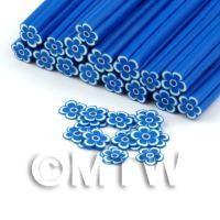 Handmade Blue and White Flower Cane - Nail Art (DNC96)