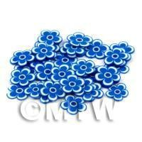 50 Blue Flower Cane Slices - Nail Art (DNS96)